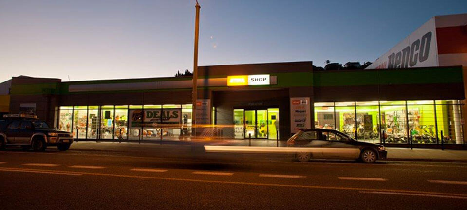 Stihl Shop Napier at night