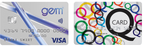 Gem Visa and Q Card