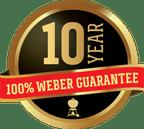 10 Year Weber Guarantee badge