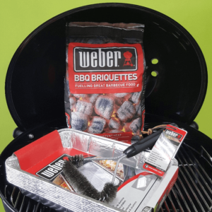 Weber Kettle Charcoal Kickstarter pack - items in the description